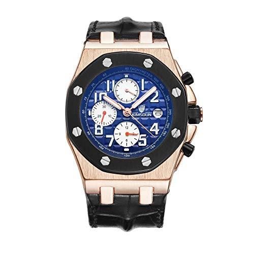 Smartwatches,wasserdichte Gürtel Mode Herrenuhr Automatische Mechanische Uhr Rose Gold Shell Schwarz Ring Blau Nudeln
