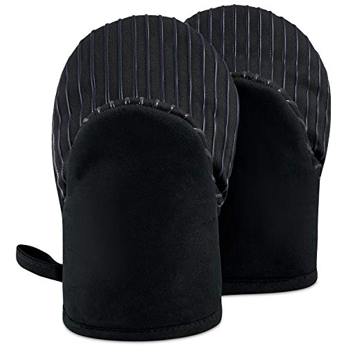 BIG RED HOUSE Mini Oven Mitts, Made with Recycled Cotton Infill, 480 F Heat Resistant, 1 Pair Royal Black
