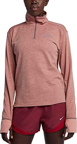 Nike Women s Therma Sphere Element Half-Zip Running Pullover (Rust Pink, Large)