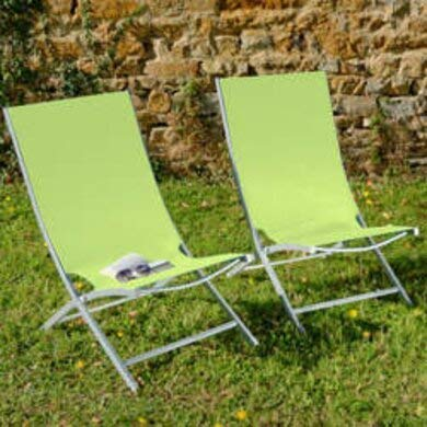 Inconnu Lot de 2 fauteuils Vert anis