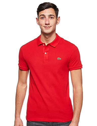 Lacoste PH4012, T-shirt Polo Uomo, Rosso (Rouge 240), Medium (Taglia Produttore: 4)