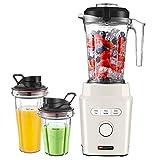 HAUSWIRT Standmixer Smoothie Maker - starke 30.000 U/Min bei energiesparenden 1200W - BPA-freie 1,45L Mixer Behälter + 2x Trinkbecher - Spülmaschinenfest -...