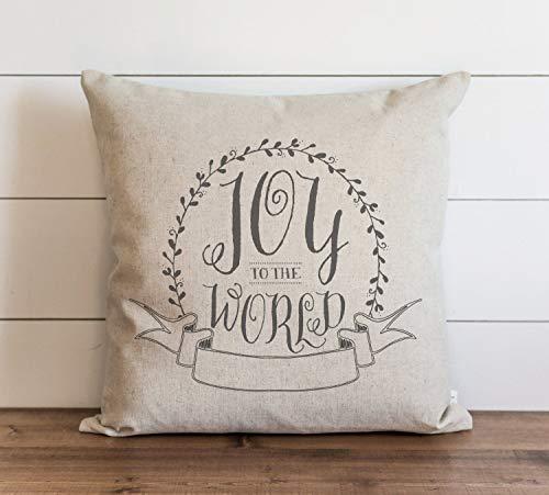 Joy To The World - Funda de almohada con cierre oculto para sofá, banco, cama, decoración del hogar, 26 x 26 pulgadas