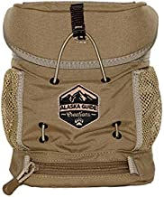 Alaska Guide Creations K.I.S.S. with M.A.X. Pocket | Simple and Secure Binocular Harness Pack for Hunting | Binoculars and Rangefinder Pouch (Coyote Brown)