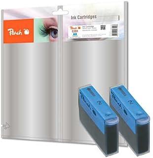 Peach Dwupak wkładów atramentowych cyjan kompatybilny z Canon, Xerox, Apple BJI-201 c