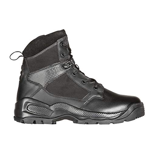"""5.11 Men's ATAC 2.0 6"""" Tactical Side Zip Military Boot, Style 12394, Black, 8.5 M US"""