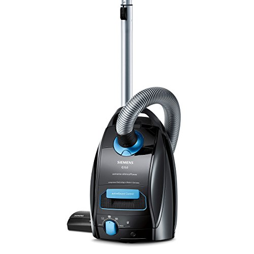 Siemens Q5.0 extreme Silence Power VSQ5X1230 Bodenstaubsauger, Kunststoff, 4.5 liters, schwarz