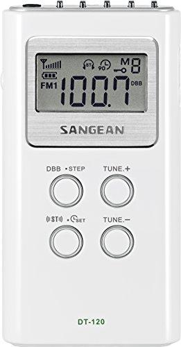 Sangean DT-120, Radio (Pantalla LCD, 120 W, 1.5 V), Blanco