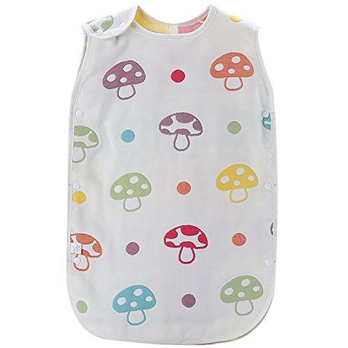 Luyusbaby 6 Layer Gauze Baby Sleeping Bag Sleeveless Wearable Blanket Large