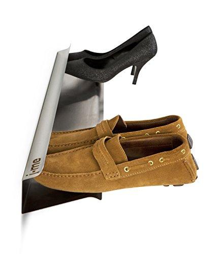 Schuhregal, wandbefestigt Horizontal Shoe Rack 700mm - stainless steel