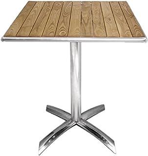 Bistro Table Haute en Aluminium 60x60cm réglable en hauteur Table pliante Balcon Table