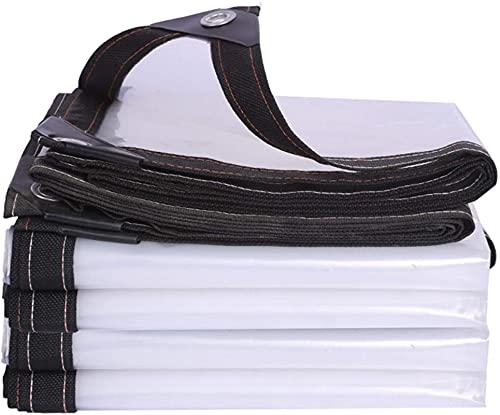 WHCQ Lona Transparente Grande Resistente, PVC Impermeable, Lona Transparente, Lona De PláStico Transparente, Resistente La Intemperie y La Rotura, con Ojales