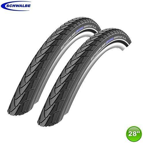 -Schwalbe 2 x Marathon Plus Fahrrad Reifen unplattbar Reflex 25-622