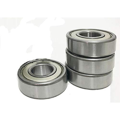 Rodamiento, rodamiento en miniatura, rodamiento de motor, rodamiento de acero 608ZZ Patines de ruedas Polea Cojinetes de scooter Cojinetes de bolas de ranura profunda (paquete 4)