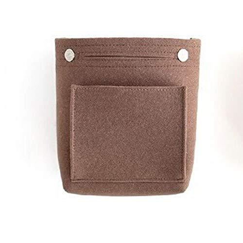Toilettas, draagbare multifunctionele speelruimte-cosmetische tas-grote capaciteit, portemonnee-organisator, vilten tas, handige handtas, draagbare tas bruin