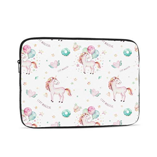 MacBook Pro 2015 Case Country Garden Cute Unicorns Birthday Laptop Pro Accessories Multi-Color & Size Choices10/12/13/15/17 Inch Computer Tablet Briefcase Carrying Bag