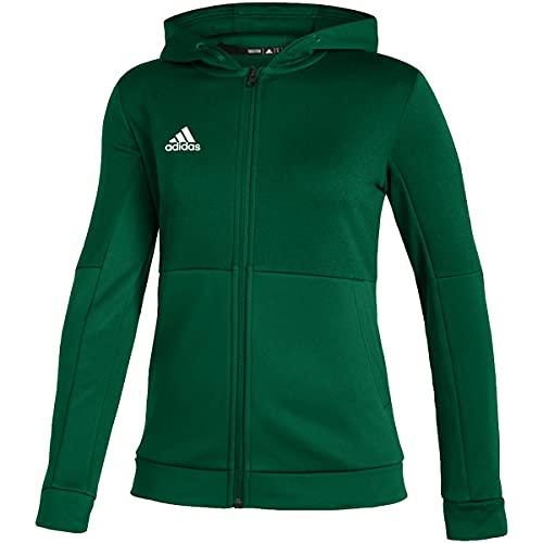 adidas Team Issue Full Zip Jacket - Women's Casual L Team Dark Green/White