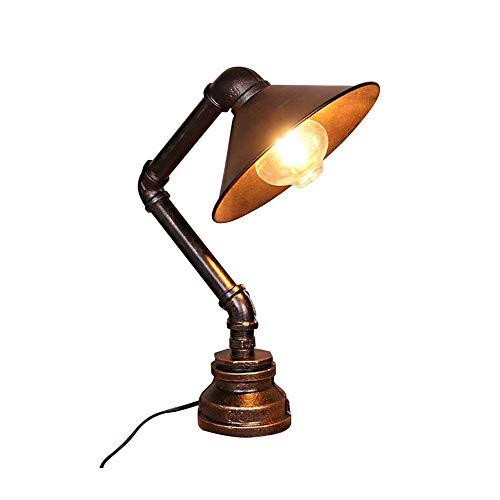 LHTCZZB Lámpara de Mesa de interruptores de botón de Base Metal E27 Equipo de iluminación de lámpara de Ahorro de energía es Adecuado for lámparas de Lectura de la lámpara de la Oficina de la lámpara