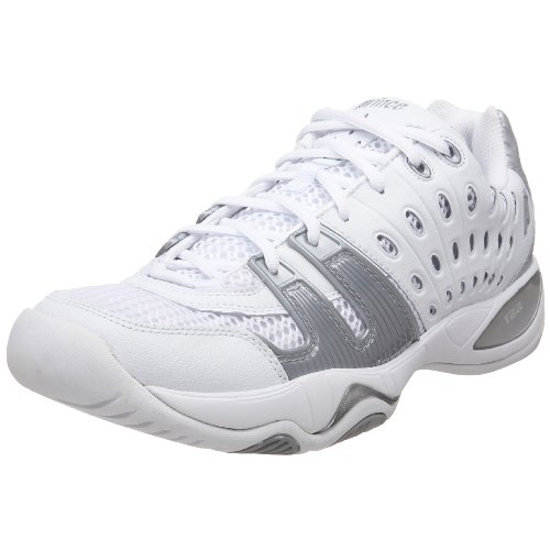Prince Women's T22 Tennis Shoe,White/Silver,8.5 M US