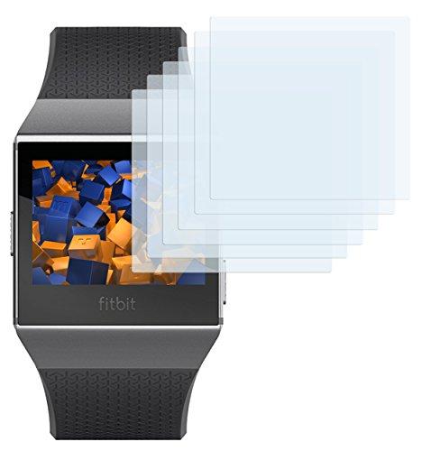 mumbi Schutzfolie kompatibel mit Fitbit Ionic Folie klar, Displayschutzfolie (6x)