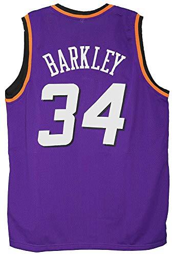 Camiseta De Baloncesto Clásica Para Hombre - Camiseta De La NBA Phoenix Suns # 34 Charles Barkley, Fanáticos Ligeros / Transpirables De Los Fanáticos De Los Fanáticos De Los Hombres,XL~180cm/85~95kg