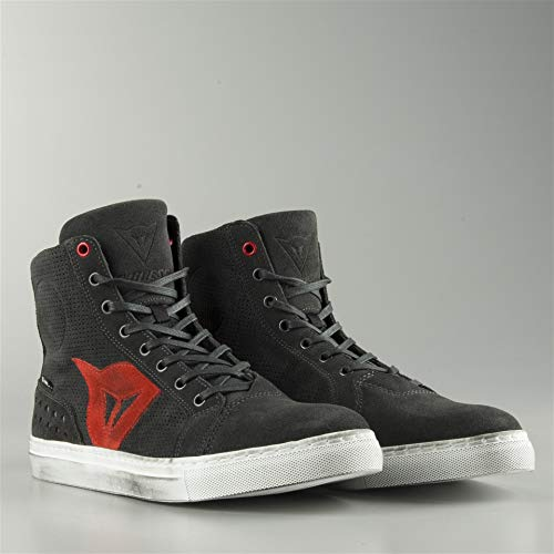Dainese-STREET BIKER AIR Schuhe, CARBON-Dark/Rot, Größe 39