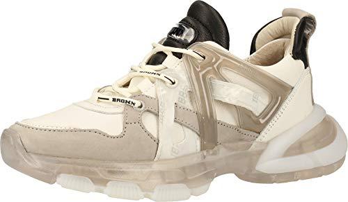 Bronx Seventy-Street Gebroken Witte/Grijze/Zwarte Sneakers Voor Dames