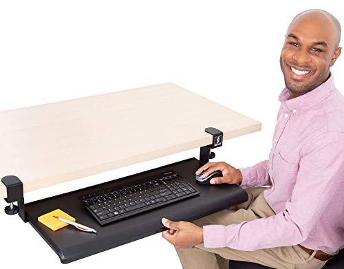 Stand Steady Easy Clamp On Keyboard Tray