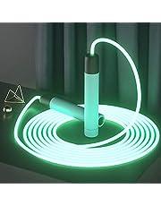 Rgzqrq Hopprep, tänd hopprep LED flerfärgad upplyst hopprep USB laddningsbar, flerfärgad universell storlek för barn och vuxna