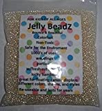 JellyBeadZ Brand - Clearly Clear -2.5-3.0 mm Water Beads-Centerpiece Wedding Tower Vase Filler-Makes 6 Gallons with a 8 Ounce Pack