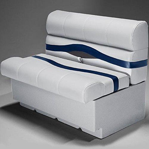 DeckMate Premium 38' Pontoon Boat Seats (Gray/Blue/Charcoal)