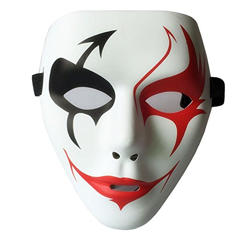 happygo! Herren Frauen Halloween Maske PVC Masquerade Paintball Full Face Skeleton Maske Maskenball Kostüm Karneval Party Weiß
