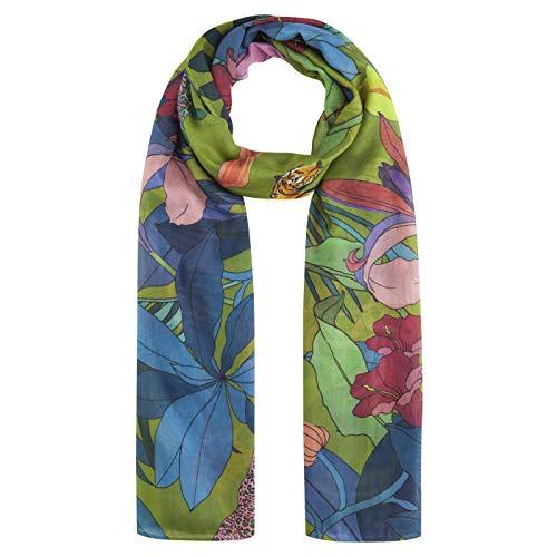 CODELLO Damen XL-Schal mit Dschungel-Muster