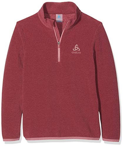 Odlo Kinder Midlayer 1/2 Zip Royale Kids Pullover, mesa Rose/Rumba red/Stripes, 164