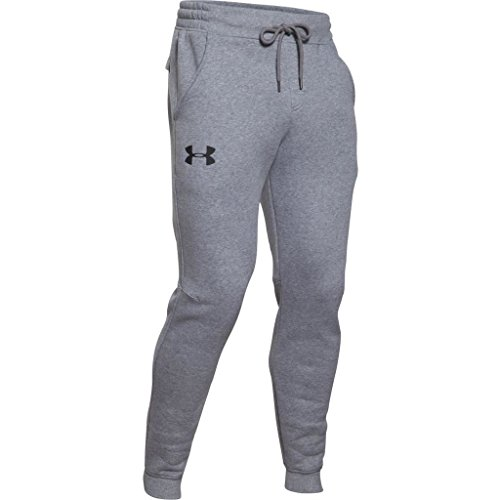 Under Armour, Rival Cotton Jogger, Pantaloni Sportivi, Uomo, Grigio (True Gray Heather/Black 025), XXL