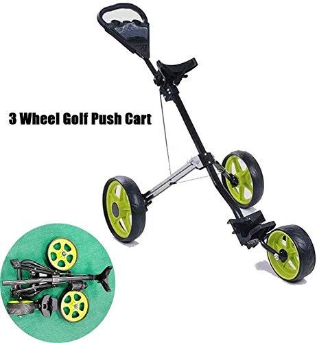 YLLN Golf Caddy, Leichter Golfwagen 3-Rad mit Getränkehaltersitz, eine Sekunde zum Öffnen und Schließen des Klappwagens, zusammenklappbarer Wagen