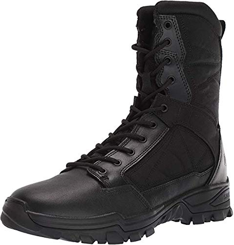 5.11 Tactical Men's Fast-Tac 8-Inch Leather Waterproof Combat Military Boots, Black, 11.5, Style 12387