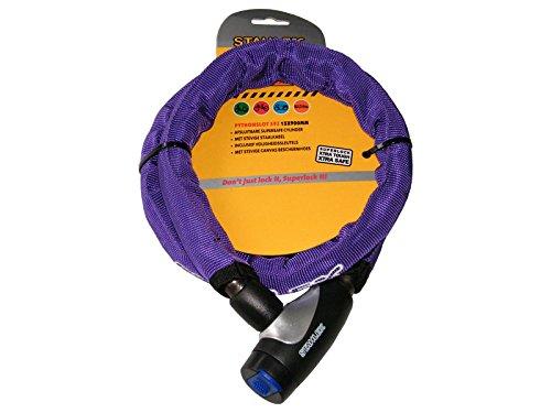 Stahlex FAHRRADSCHLOSS PANZERSCHLOSS fein bunt 15x900 mm 7182 (Violett)