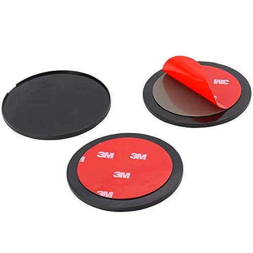 woleyi 80mm GPS Dashboard Mounting Disk, 3 Pack Adhesive Car Dashboard Sticky Pad for Suction Cup Mount