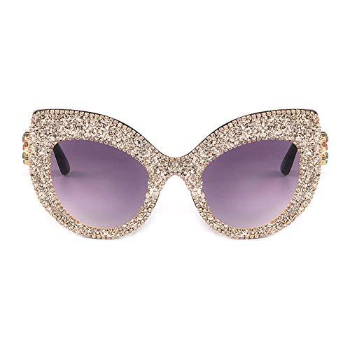 Gafas de Sol Sunglasses Marca De Moda Cat Eye Gafas De Sol Mujer Sombras Espejo Mujer Rhinestone Gafas De Sol para Revestimiento Femenino Uv400 4
