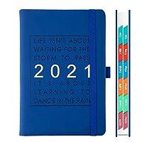 2021年のカレンダーノート、328ページ、2021年のファッションアジェンダ1月から12月、厚手のノートブック、A5レザーソフトカバー、スクールプランナー効率マガジン (Color : B)