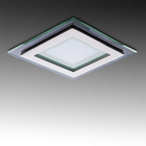 Greenice | Foco Downlight LED Cuadrado con Cristal 95X95Mm 6W 450Lm 30.000H | Blanco Frío