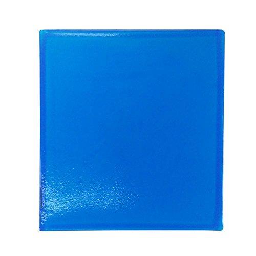 Asiento de moto de gel, cómodo y suave, color azul