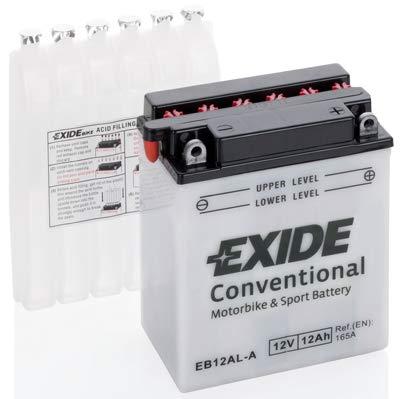 Batteria moto EXIDE EB12AL-A 12AH YB12AL-A 165N dimensioni 135X80X160