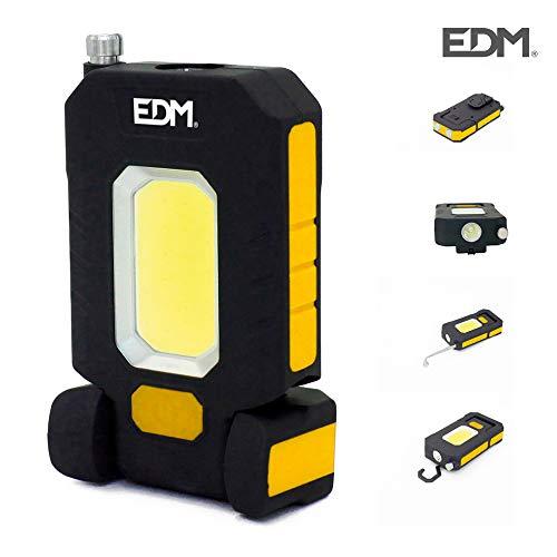 EDM GRUPO EDM Linterna LED XL 3W 300 Lumen, Amarillo, 0