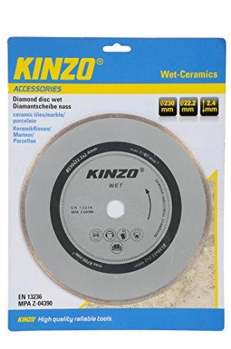 Kinzo diamantschijf slijpschijf Ø230 mm Ø22,2 mm 2,4 mm max. 6700 min, 230mm, 1