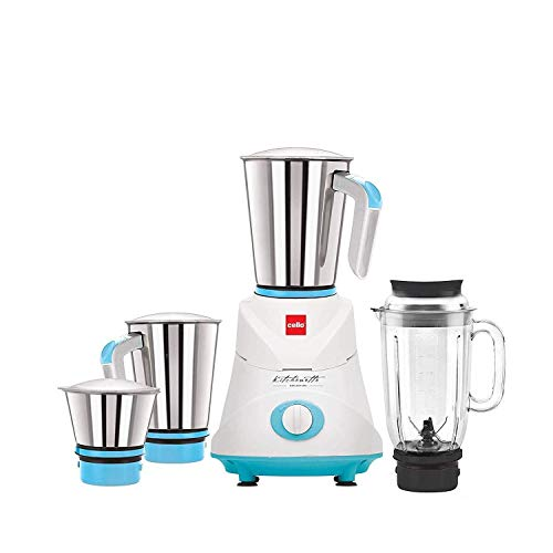 Cello GNM_Elite 500-Watt Mixer Grinder with 3 Stainless Steel Jar and 1...
