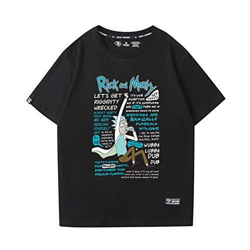 GRTBNH Camiseta Hombre Manga Corta Cuello Redondo, Rick y Morty Estampado Unisex Camisetas Casuales Tops,Style 7,XXL
