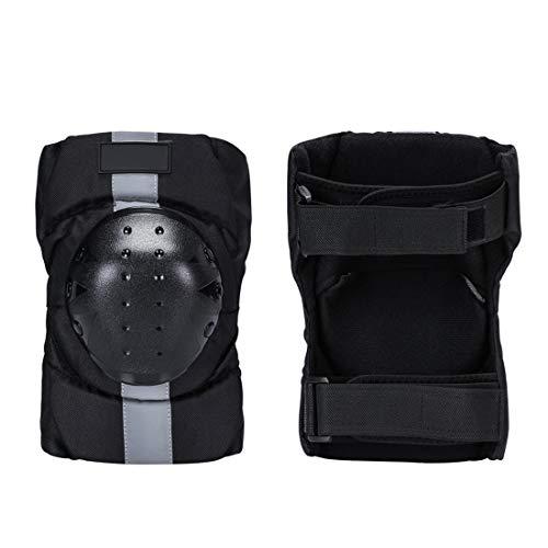 Kklak Moto De Plein Air Vélo Extreme Sports Ski Knee Equipement De Protection Réfléchissant Noir (Taille Unique)