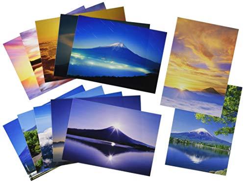 ピンナップ 人気柄 ポストカード 12種 各1枚 計12枚 セット 富士山